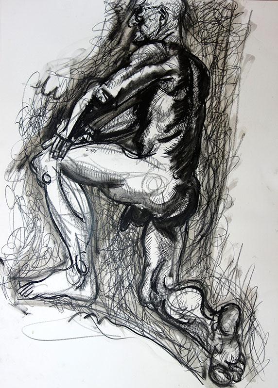 2015, Stift, Kreide auf Papier,  80x60