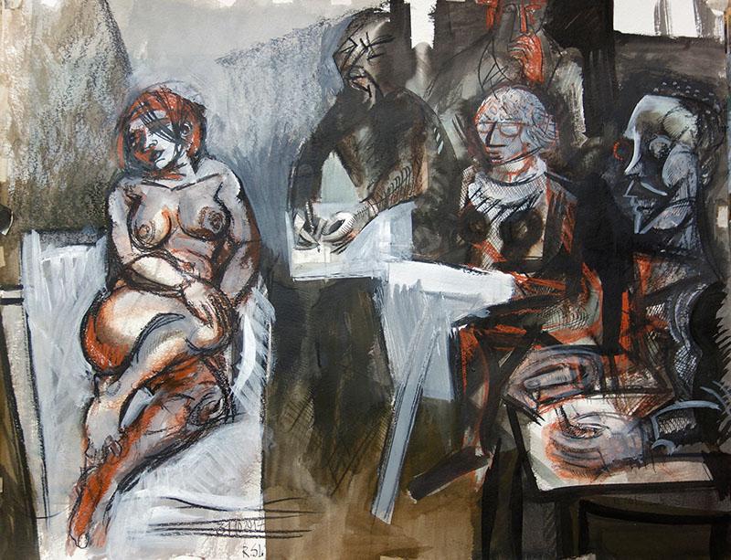 2017  Tusche, Aquarell, Gouasche auf Papier 50x65