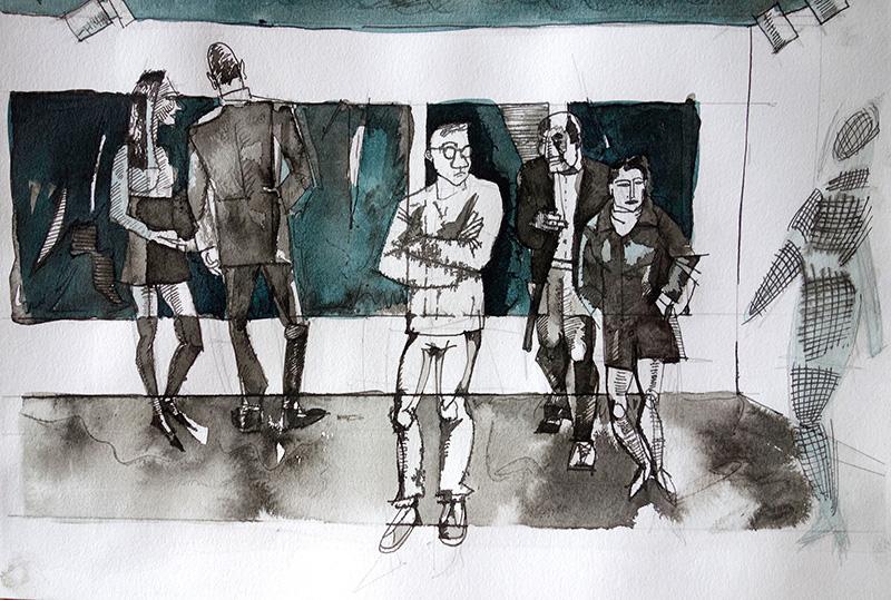 2016, Tusche auf Papier, 21x29,5