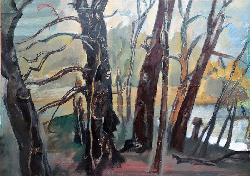 2020, Park Faber Castel.   Öl auf Papier, 42x59