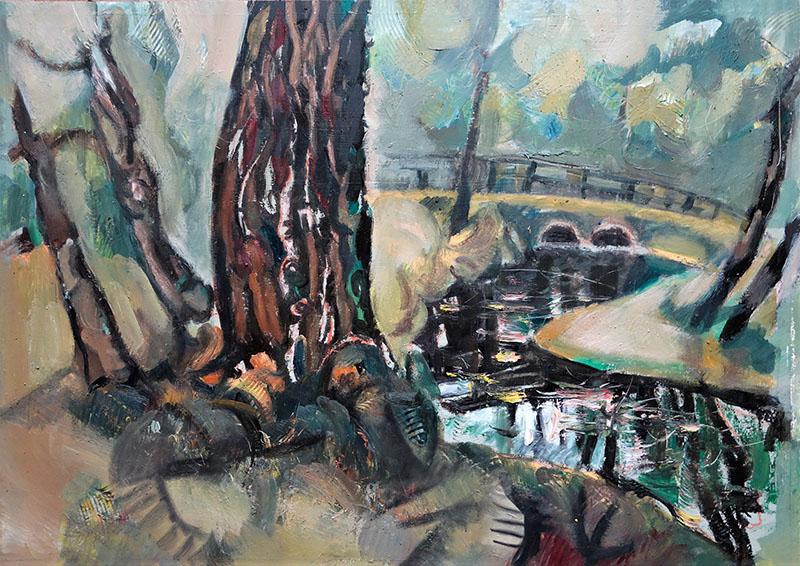 2020, Park Faber Castel.   Öl auf Papier, 50x65
