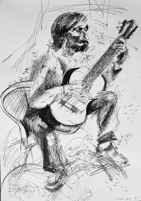 2013, Stift, Kreide auf Papier, 59,5x41,5